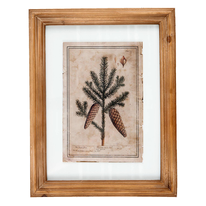 Clayre & Eef Schilderij 63841 36*2*46 Cm - Meerkleurig Hout