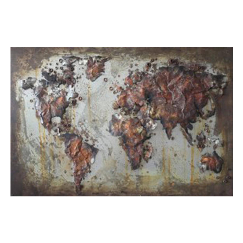 Clayre & Eef Muurdecoratie Jjwa00055 120*80*4 Cm - Meerkleurig Ijzer