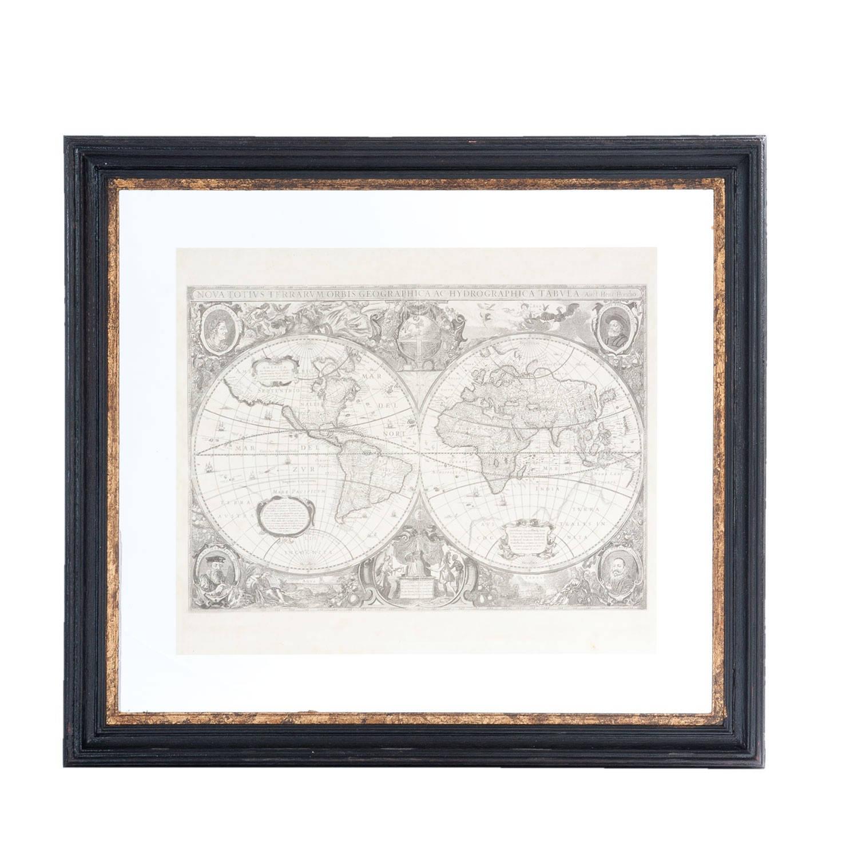 Clayre & Eef Schilderij 55*4*50 Cm Zwart Hout Rechthoek