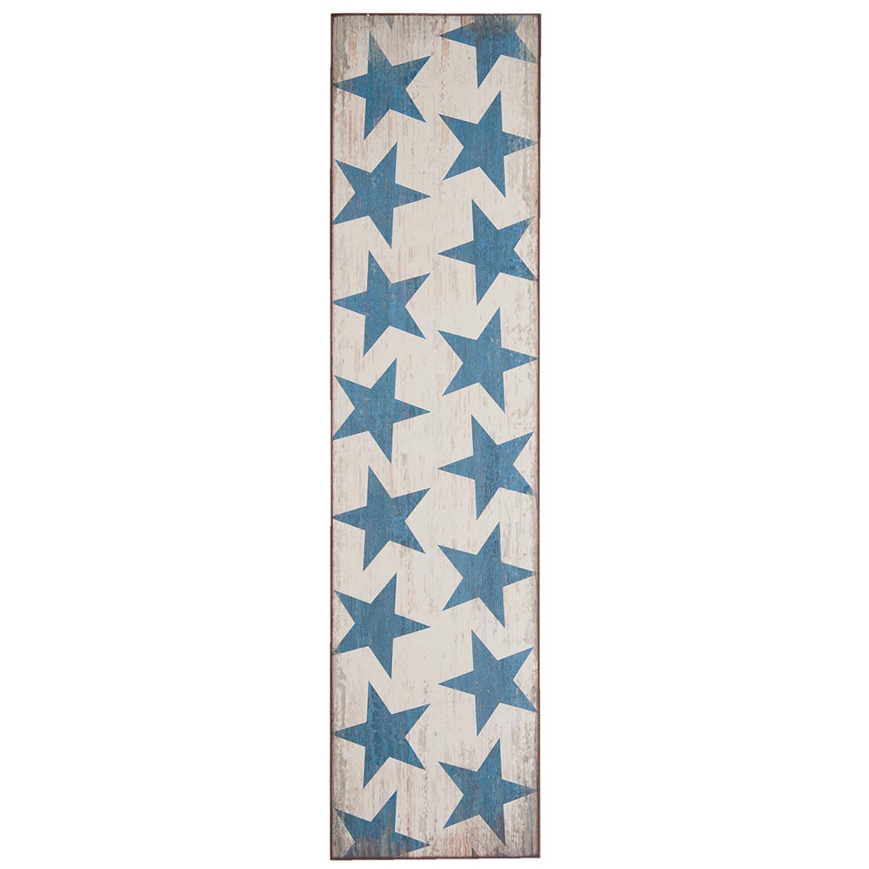 Clayre & Eef Wanddecoratie 5h0215 20*3*80 Cm - Blauw Hout