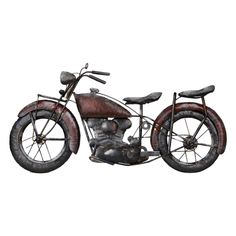 Clayre & Eef Wanddecoratie motor 79*5*40 cm Meerkleurig Ijzer Motor 5WA0127
