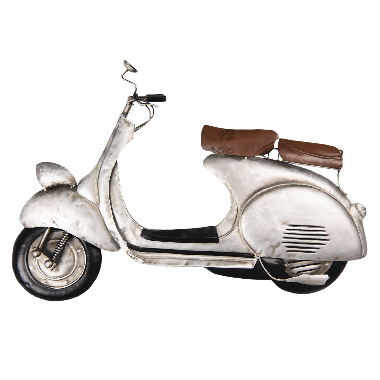 Clayre & Eef Wanddecoratie scooter 60*6*39 cm Meerkleurig Ijzer Scooter 5W6Y3618
