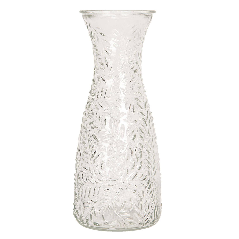 Korting Clayre en Eef Karaf 6gl2536 Ø 10*25 Cm 1l Transparant Glas Waterkan