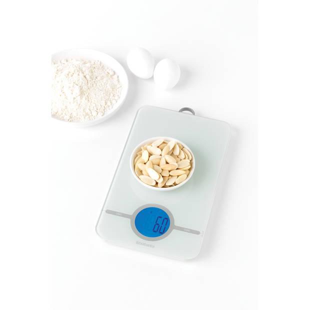 Brabantia Tasty+ keukenweegschaal digitaal, op batterijen - Light Grey
