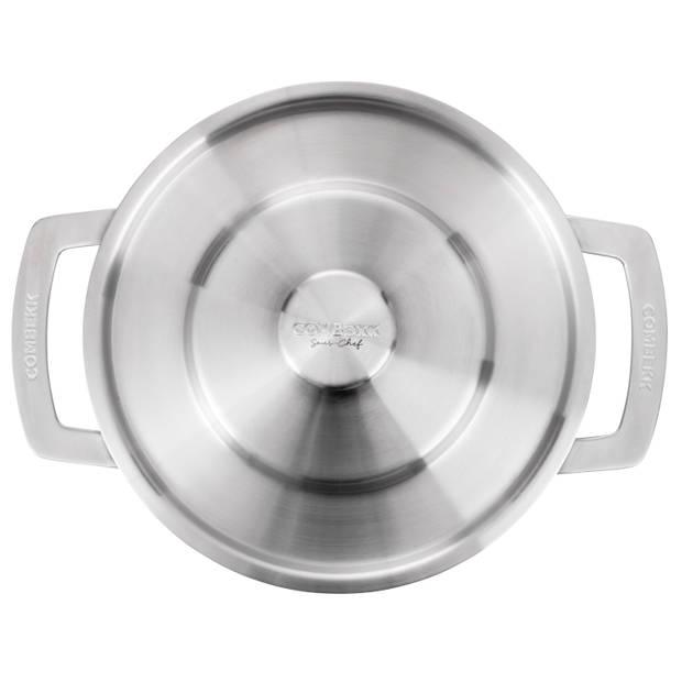 COMBEKK Sous-Chef 4-delige RVS Pannenset - gerecycled aluminium