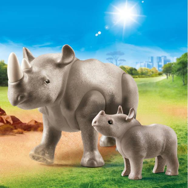 Playmobil Family Fun neushoorn met baby 70357