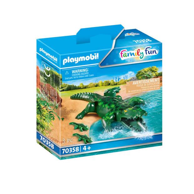 Playmobil Family Fun alligator met baby 70358