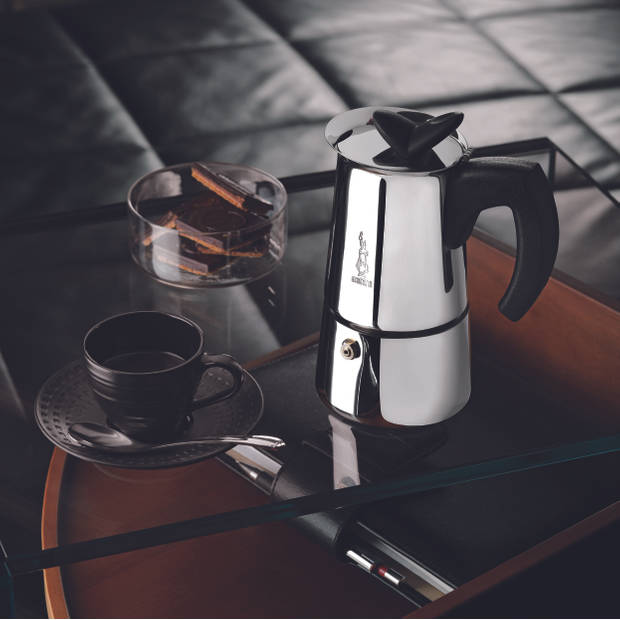 Bialetti Musa espressomaker - 4 kops - roestvrijstaal