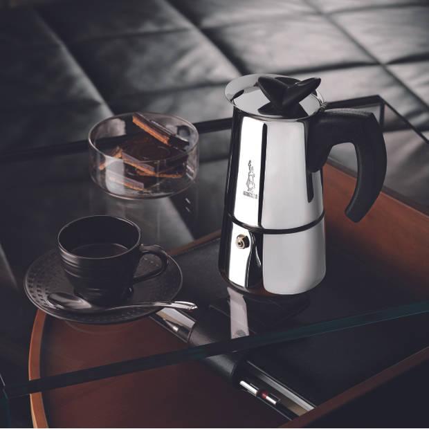 Bialetti Musa espressomaker - 6 kops - roestvrijstaal