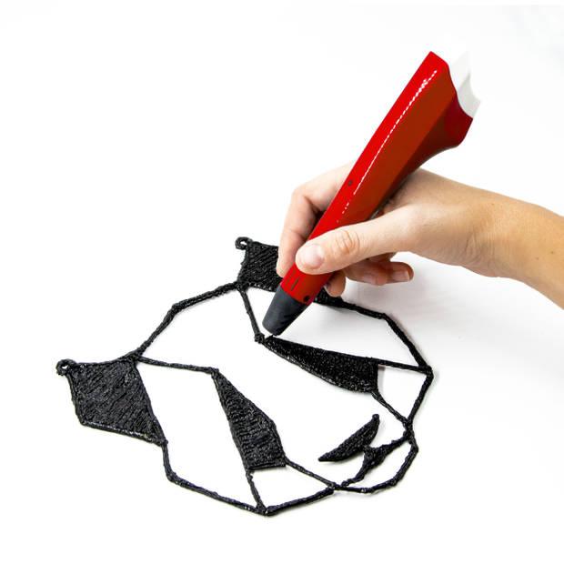 3Dandprint 3D Pen Starterspakket Rood - Inclusief 50 Meter Filament - 5 Stencils