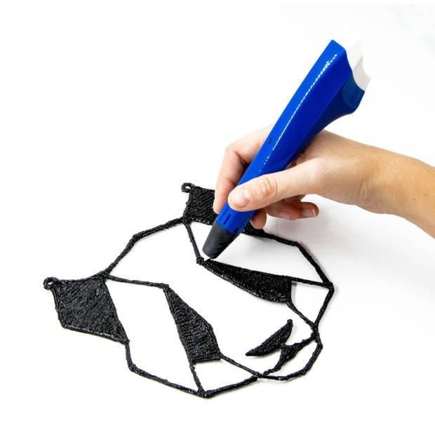 3Dandprint 3D Pen Starterspakket Blauw - Inclusief 50 Meter Filament - 5 Stencils