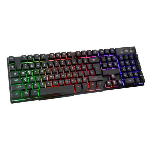 Silvergear Gaming Toetsenbord met RGB LED Verlichting - QWERTY - Bedraad - Zwart
