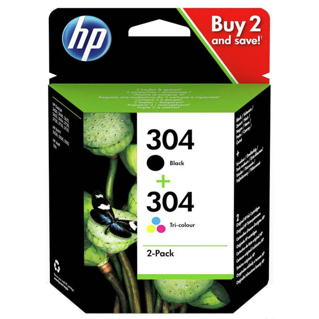 HP cartridge 304 zwart + kleur