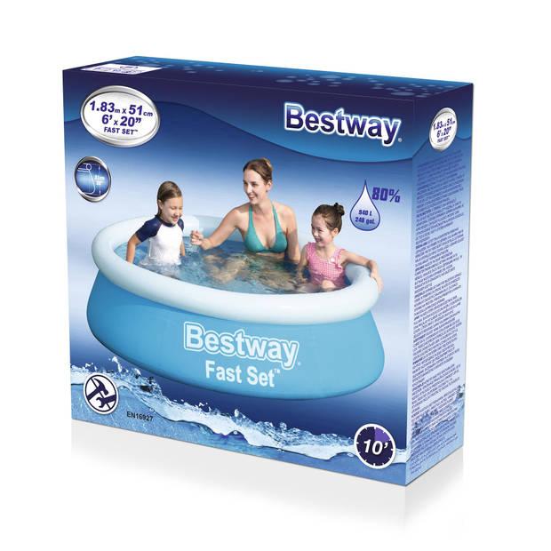 Bestway Zwembad - Ø 183 cm - Model 57392 - Opblaasbare Rand