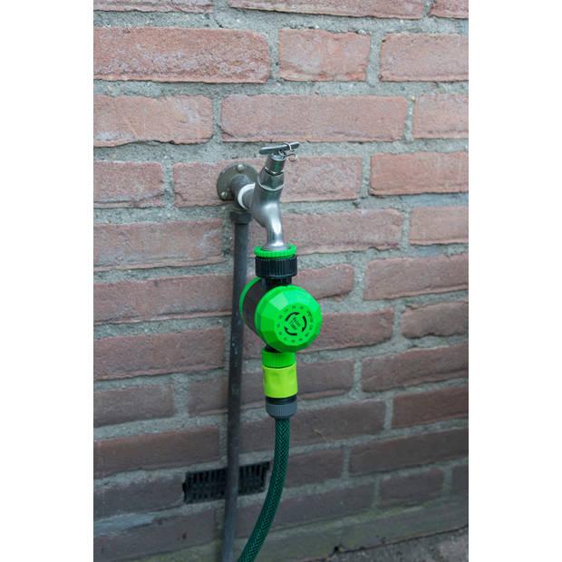 Kinzo Garden watertimer - 5-120 min. - 2 aansluitingen - vergrendelknop