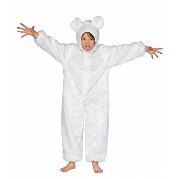 IJsberen pak dierenpak voor kinderen wit - dieren verkleed kostuums 128