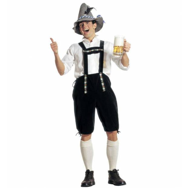 Oktoberfest Groene Oktoberfest lederhose voor heren - bierfeest / tiroler kleding 54 (XL)