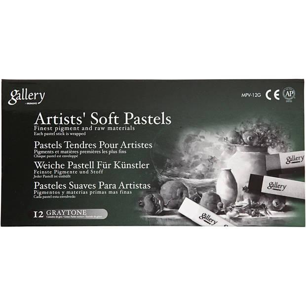 Gallery Gallery Soft Pastel Set 10 mm x 6,5 cm grijs 12stuks