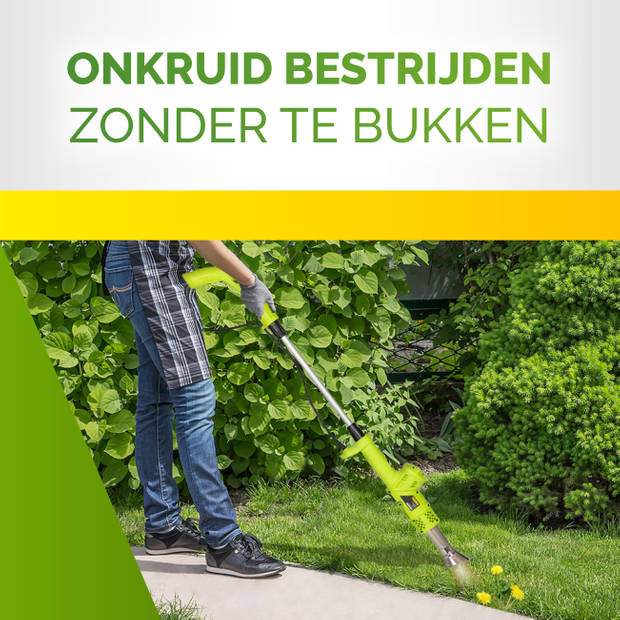 Kinzo Garden onkruidbrander - 2000W - tot 650°C - multifunctioneel - elektrisch - milieuvriendelijk
