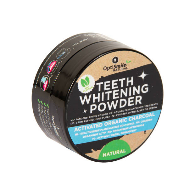 Optismile Witte Tanden Polijstpoeder - Teeth Whitening Charcoal