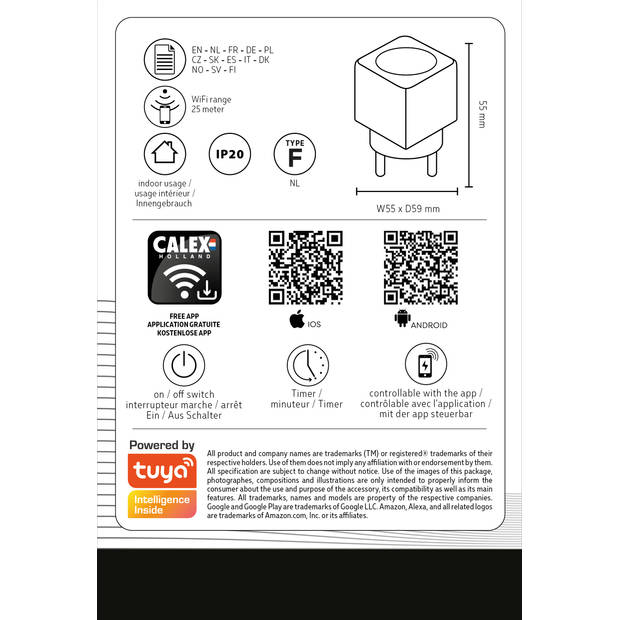Calex smart connect powerplug NL plus 16A