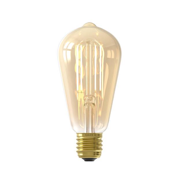 Calex smart led edison rustiek goud 7Watt E27