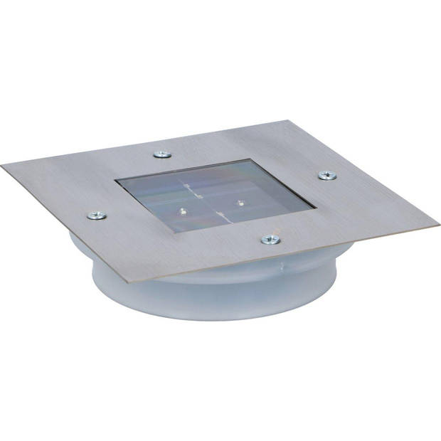 Grundig grondspot - solar - RVS - 2 LED's - vierkant