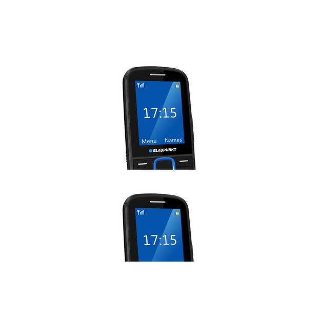 Blaupunkt Senioren mobiele telefoon - Zwart - Blauw (BS04-B)