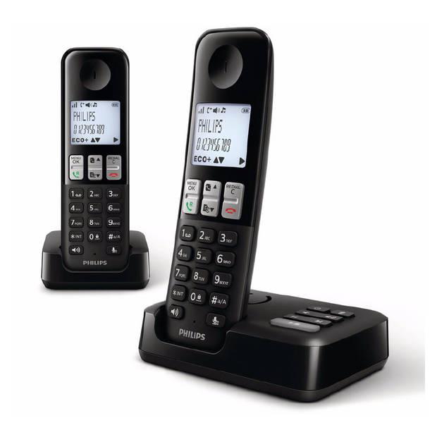 Philips D255 DECT telefoon - draadloos - met antwoordapparaat - 1,8 inch display