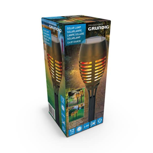 Grundig solar steker - flame-effect - 1xAAA - 12xLED