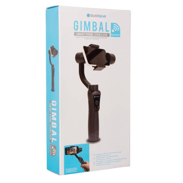 Silvergear Gimbal Smartphone Stabilizer - 3-assig - Inclusief Tripod - Ingebouwde Powerbank - Zwart