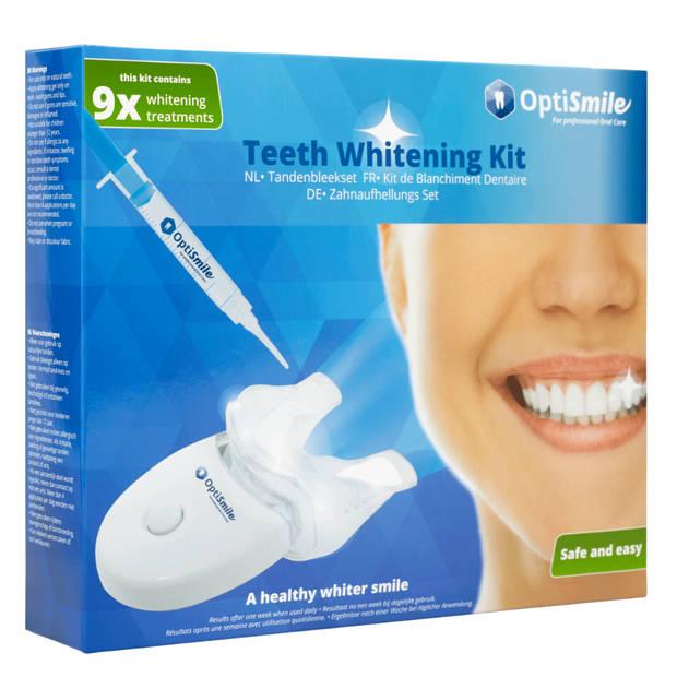 OptiSmile Teeth Whitening Kit Tandenbleekset met Peroxide - Zelf je Tanden Bleken - Voor 9 Behandelingen