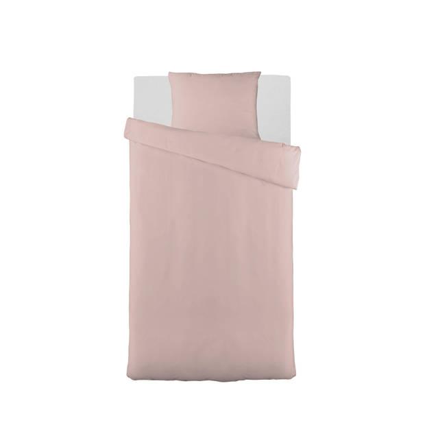 Blokker dekbedovertrek basic - 140x220 cm - roze