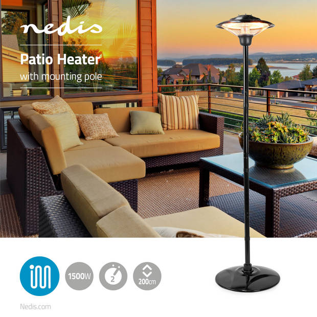 Nedis Terrasverwarmer standaard HTPA15EBK