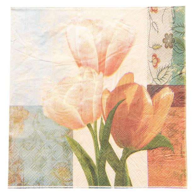 Clayre & Eef Servetten Papier (set v 20) 73059 33*33 cm (20) -