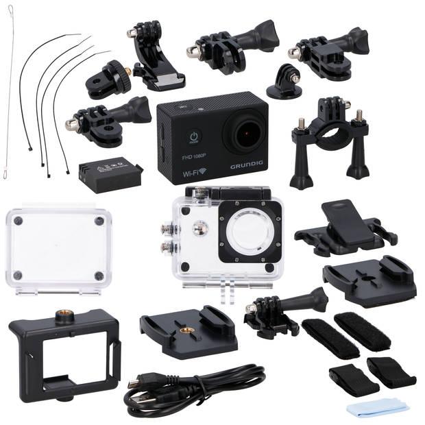 Grundig Action Camera - HD 1080p - Wifi - Microfoon - Waterdicht - Zwart
