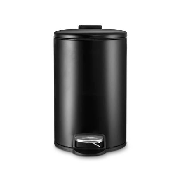Blokker Pedaalemmer - mat zwart 5 - liter