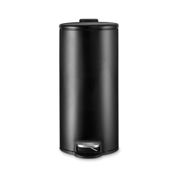 Blokker Pedaalemmer - mat zwart 30 - liter