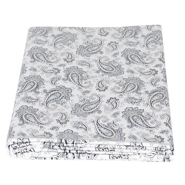 Clayre & Eef Tafelzeil PVC0005 137*180 cm - Grijs Kunststof Plastic