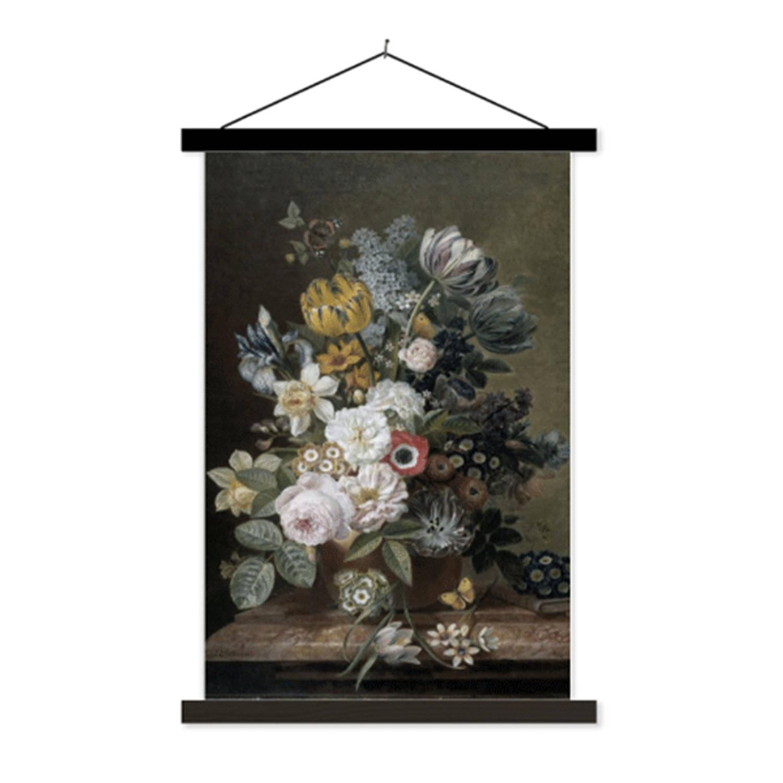 Schoolplaat Stilleven Met Bloemen - 60xh90 Cm