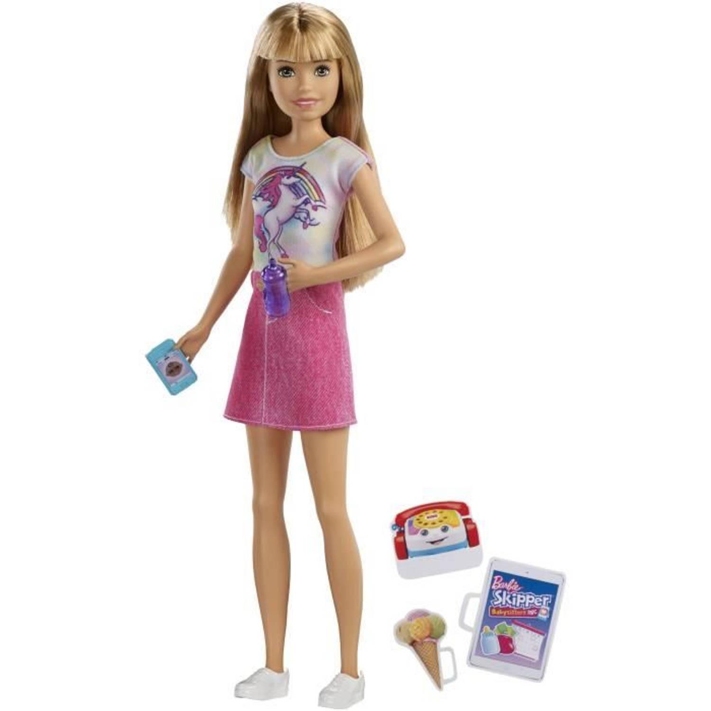 BARBIE Babysitter Blonde Doll Box Mannequin Doll Babysitter met accessoires