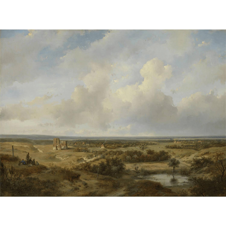 Canvas Schilderij Gezicht op Haarlem
