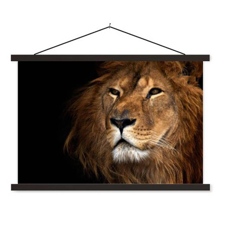 Schoolplaat Lion Close Up
