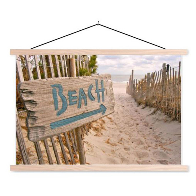Schoolplaat Beach Sign
