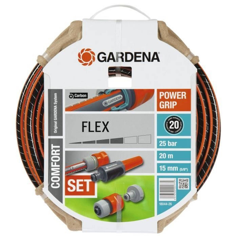 Gardena Tuinslang Flex 20m Ø15 Mm + Lans En Toegang