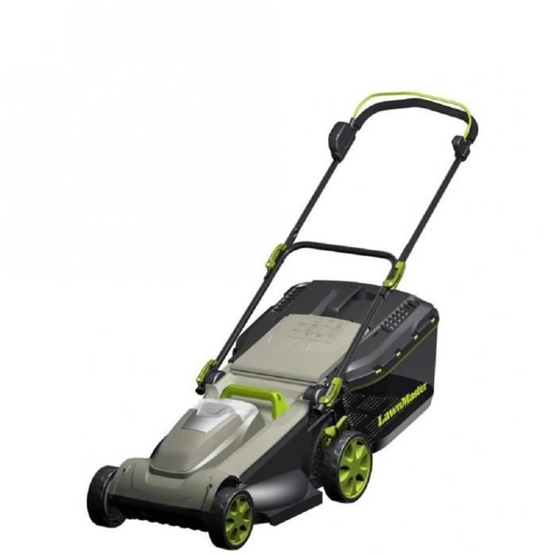 Lawnmaster Batterijmaaier 37 Cm 36 V Zonder Batterij En Lader Groen En Grijs