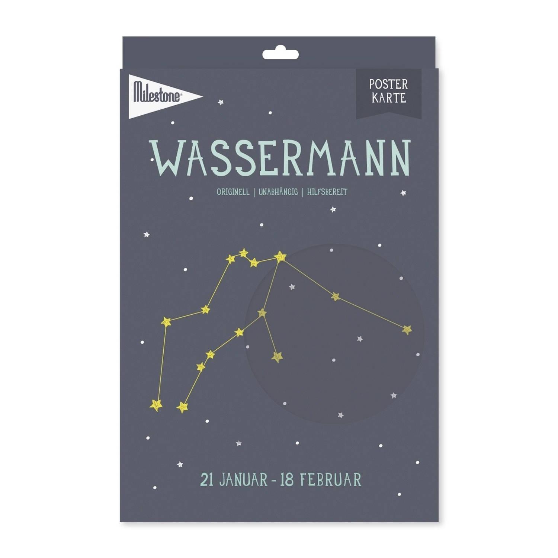 Milestone Poster Sterrenbeeld Waterman A4 Papier Blauw (De)