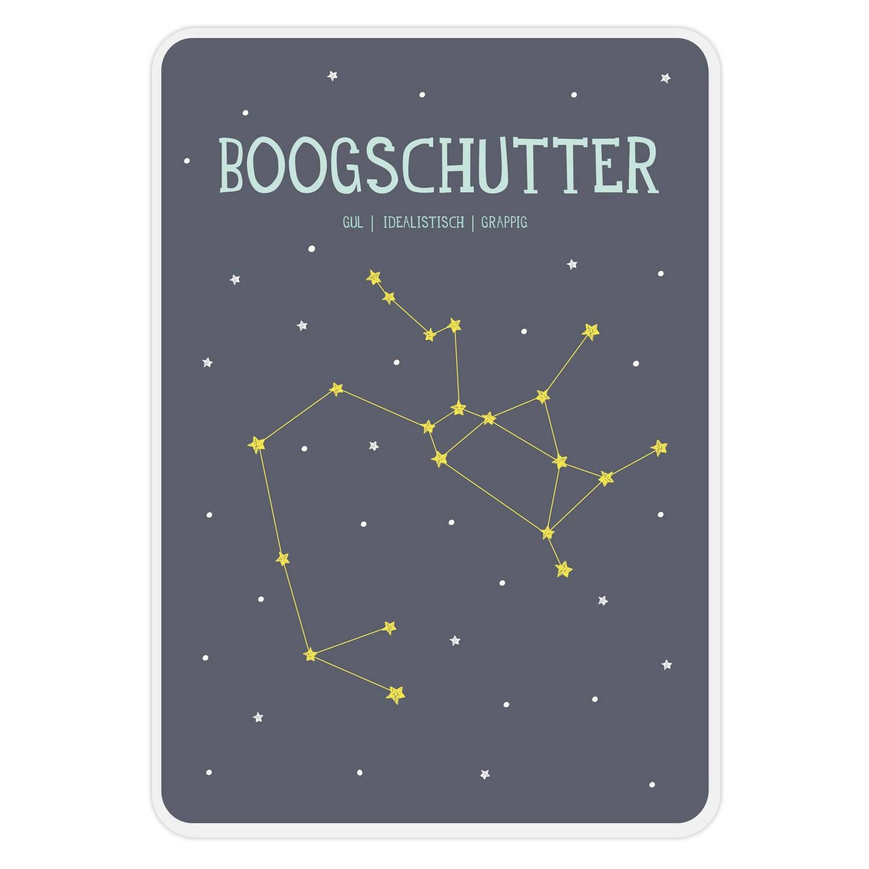 Milestone Poster Sterrenbeeld Boogschutter A4 Papier Blauw (Nl)