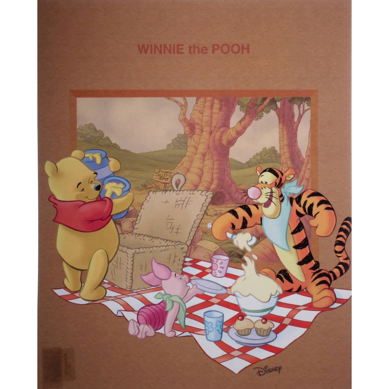 Disney Poster Winnie Picknick Junior 50x40 Cm Papier