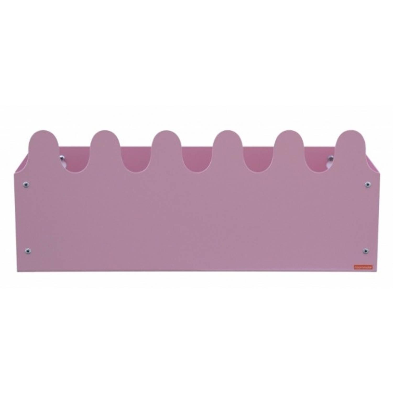 Roommate boekensteun Sinus meisjes 38,5 cm staal roze